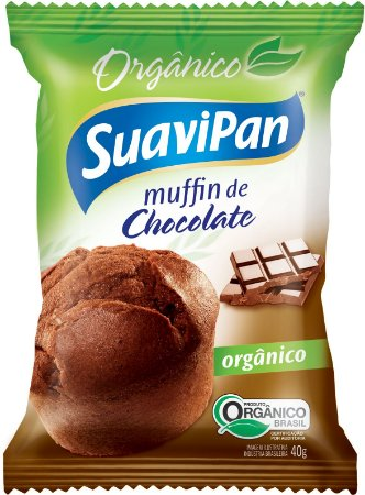 Muffin de Chocolate Orgânico SuaviPan Display c/ 12 Unid