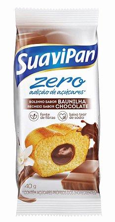 Bolinho Zero Açúcar Baunilha c/ Chocolate SuaviPan Display c/ 12 Unid