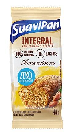 Bolinho de Amendoim Integral SuaviPan Display c/ 12 Unid