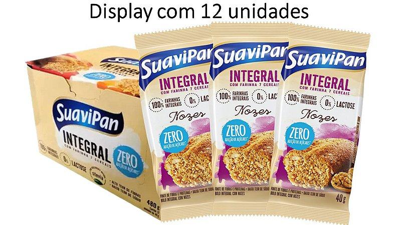 Bolinho de Nozes Integral SuaviPan Display c/ 12 Unid
