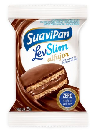 Alfajor LevSlim Chocolate ao Leite Display c/ 12 Unid