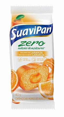 Bolinho Zero Açúcar Laranja Suavipan Display C/ 12 Unid