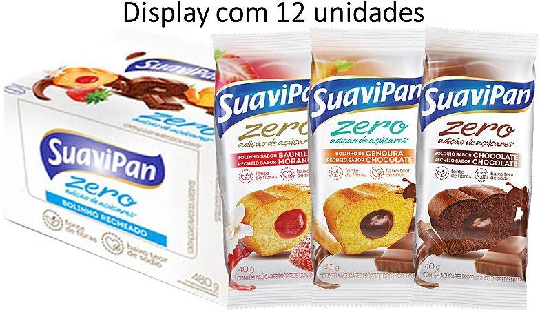 Bolinho Zero SuaviPan Display Misto c/ 12 unid.