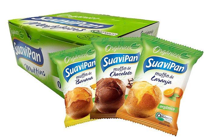 Muffin SuaviPan Orgânico Display Misto c/ 12 unid.