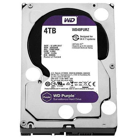 HD 4TB WESTERN DIGITAL PURPLE PARA CFTV - WD40PURX - 0079857-01
