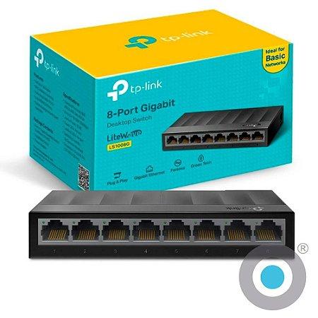 SWITCH TP-LINK LS1008G 8 PORTAS 10/100/1000Mbps
