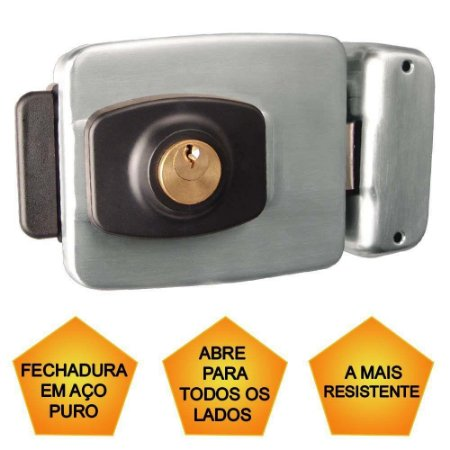 FECHADURA ELETRICA DUPLA - INOX PT-720 PA