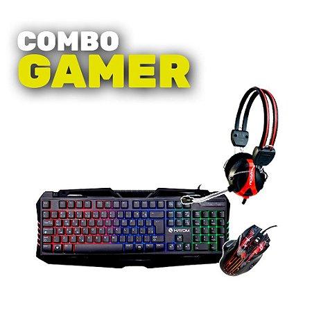 COMBO GAMER - TECLADO TC3205 + MOUSE MU2905 + HEADFONE HF2209