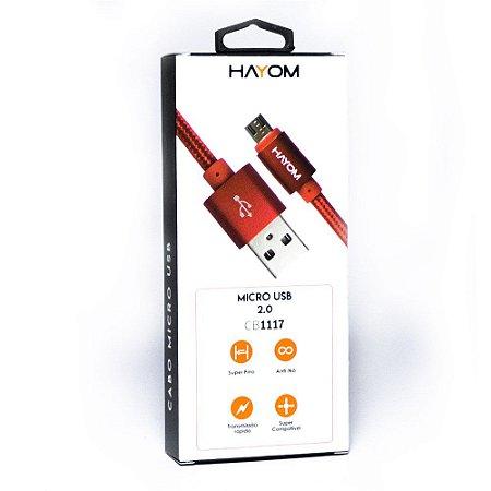 CABO PARA CARREGADOR USB 2.0 MICRO VERMELHO CB1117
