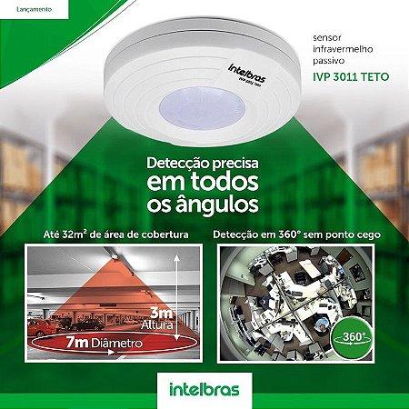 Sensor Infravermelho Passivo P/ Teto IVP 3011 TETO Intelbras