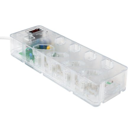 Protetor DPS iCLAMPER Energia 8 tomadas Filtro de linha (Transparente)