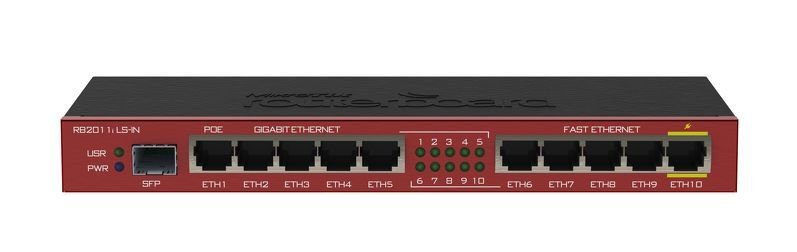 MIKROTIK - ROUTERBOARD RB2011iLS-IN 600Mhz 64Mb 128Mb L4