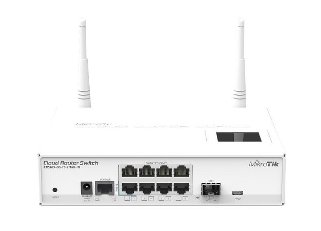 MIKROTIK - SWITCH CRS109-8G-1S-2HnD-IN 600Mhz  128Mb L5