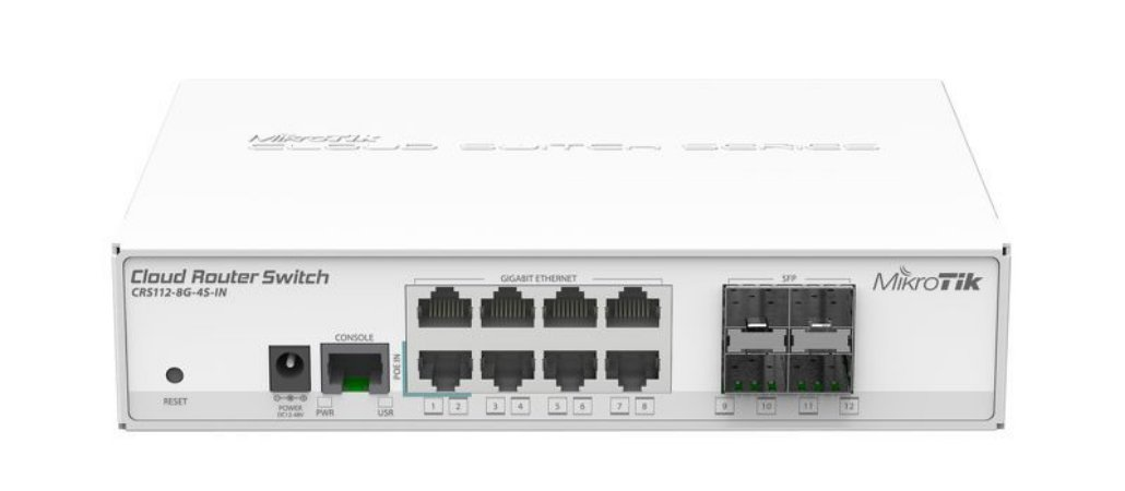 MIKROTIK - CLOUD ROUTER SWITCH CRS112-8G-4S-IN 400Mhz 128Mb L5