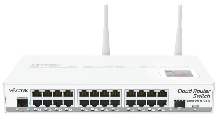 MIKROTIK - SWITCH CRS125-24G-1S-2HnD-IN 600Mhz 128Mb 128Mb L5