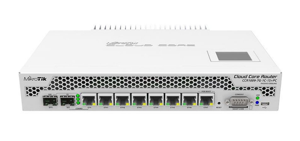 MIKROTIK - ROUTERBOARD CCR1009-7G-1C-1S+PC  1Ghz 2Gb 128mb