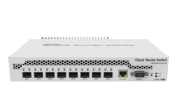MIKROTIK -SWITCH CRS309-1G-8S+IN 800Mhz 512Mb L5