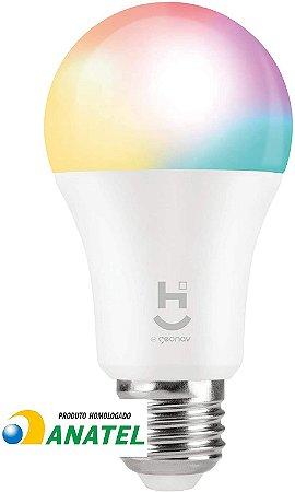 HI GEONAV LAMPADA INTELIGENTE RGB+W 2700/6500 BRANCO QUENTE E FRIO COM SOQUETE