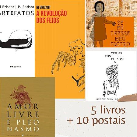O Ni Presente I Kit com 5 livros + 10 Postais