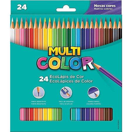 Lapis de cor (sextavado) Multicolor Super Eco 24 Cores - Faber-Castell