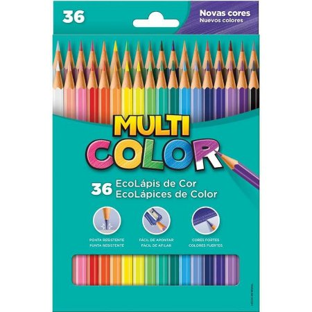 Lapis de cor (sextavado) Multicolor Super Eco 36 Cores - Faber-Castell