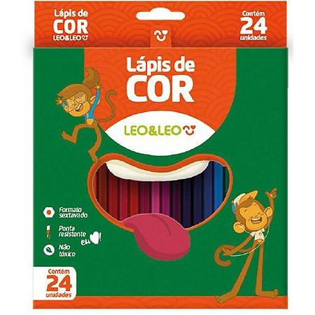 Lapis de cor (sextavado) 24 cores - Leonora