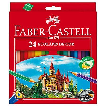 Lapis de cor (sextavado) Ecolapis 24 Cores S/Kit - Faber-Castell