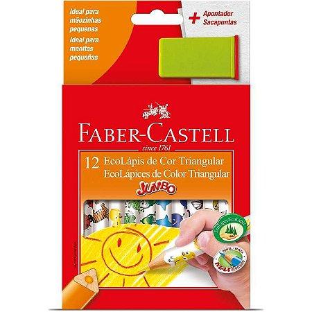 Lápis de cor (jumbo) Ecolapis 12 Cores Decorado - Faber-Castell