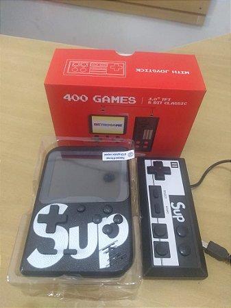 Mini Game Portátil 400 Jogos Clássicos + Controle Adicional