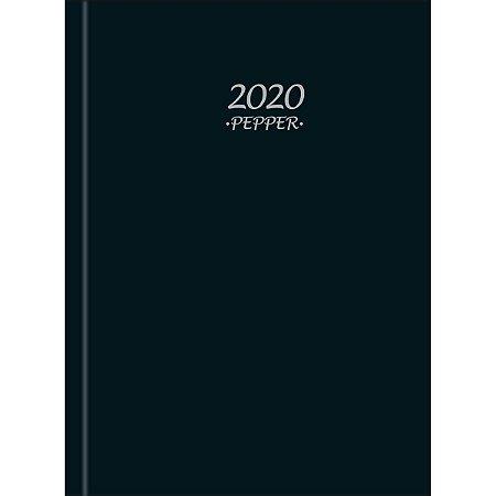 Agenda Costurada Diária Pepper Preta 2020