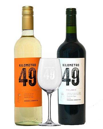 Kit vinho + taça