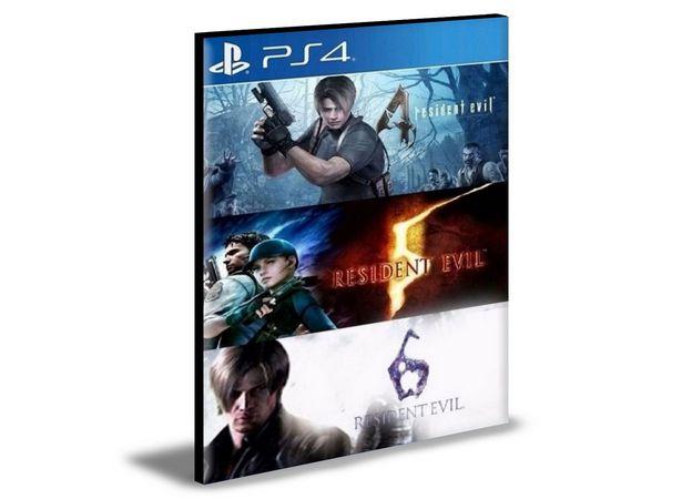 RESIDENT EVIL TRIPLE PACK 4, 5 E 6 PS4 E PS5 PSN MÍDIA DIGITAL
