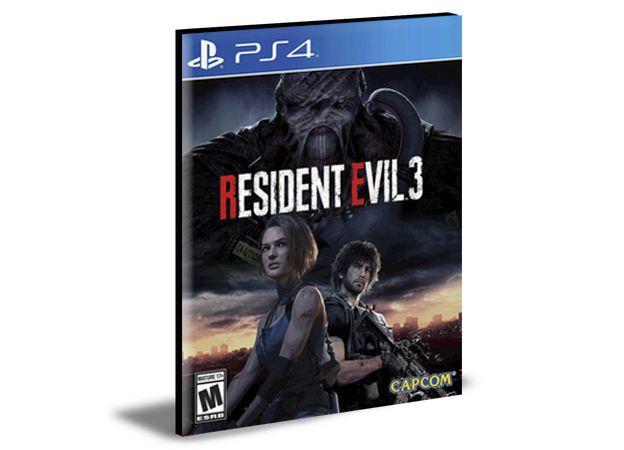 RESIDENT EVIL 3  PS4 PSN MÍDIA DIGITAL