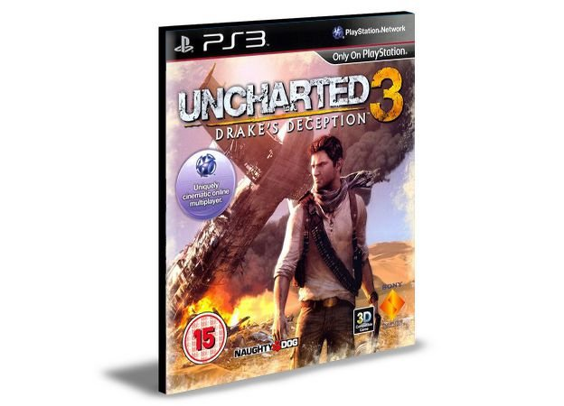 Uncharted drakes Deception 3 PS3 PSN MÍDIA DIGITAL