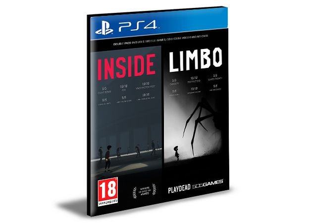 LIMBO and INSIDE Bundle - PS4 PSN MÍDIA DIGITAL