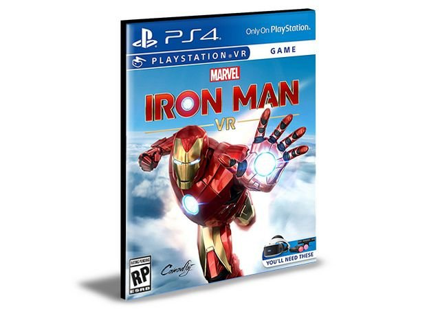 Marvel's Iron Man VR Edição Digital Deluxe -  PS4 PSN MÍDIA DIGITAL