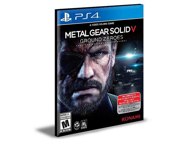 METAL GEAR SOLID V GROUND ZEROES   - PS4 PSN Mídia Digital