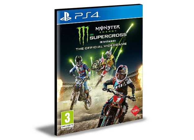 Monster Energy Supercross - The Official Videogame  -  PS4 PSN Mídia Digital