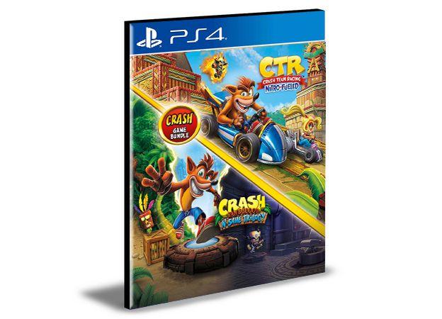 Pacote Crash Bandicoot N. Sane Trilogy + CTR Nitro-Fueled  - PS4 PSN MÍDIA DIGITAL