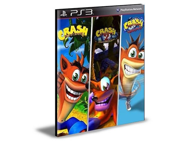COMBO CRASH BANDICOOT 1 2 3 - PS3 PSN MÍDIA DIGITAL