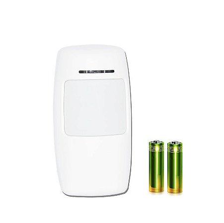 Sensor de movimento Inteligente 433 - EV1527 - 2 Pillhas  AA