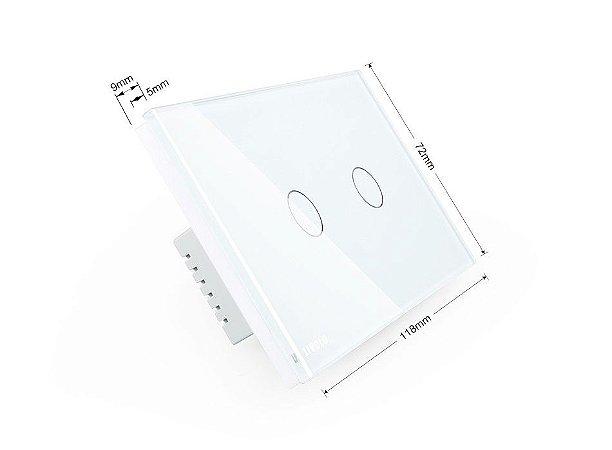 Interruptor Livolo 4X2 - 2 Botões RF