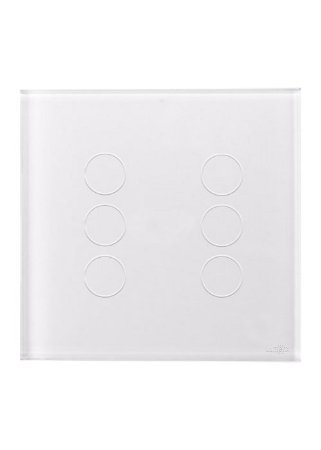INTERRUPTOR TOUCH TOK GLASS 6PADS - BRANCO