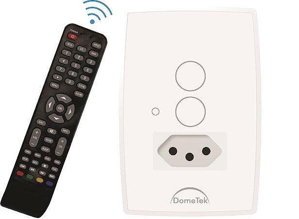 Interruptor Touch 2 PADS Tomada 10A IR DMD BRANCO