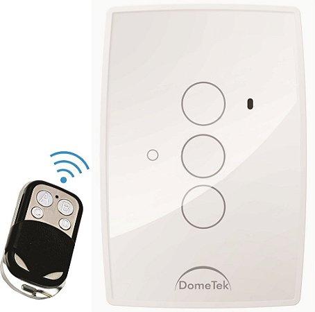 Interruptor Touch 3 PAD RF DIAMOND  Branco