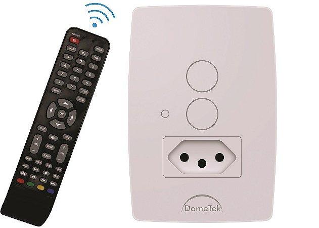 Interruptor Touch 2 PADS  Tomada 10A IR Sense