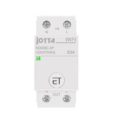 Disjuntor / Interruptor 2P WIFI 63A DIN - App eWeLink
