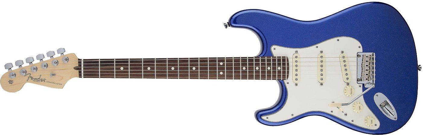 Guitarra para Canhotos Fender 011 3020 - AM Standard Stratocaster LH RW - 795 - Mystic Blue
