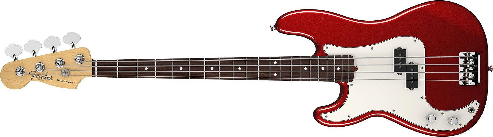 Contrabaixo para Canhotos FENDER 019 3620 - Am Standard Precision Bass LH RW - 794 - Mystic Red