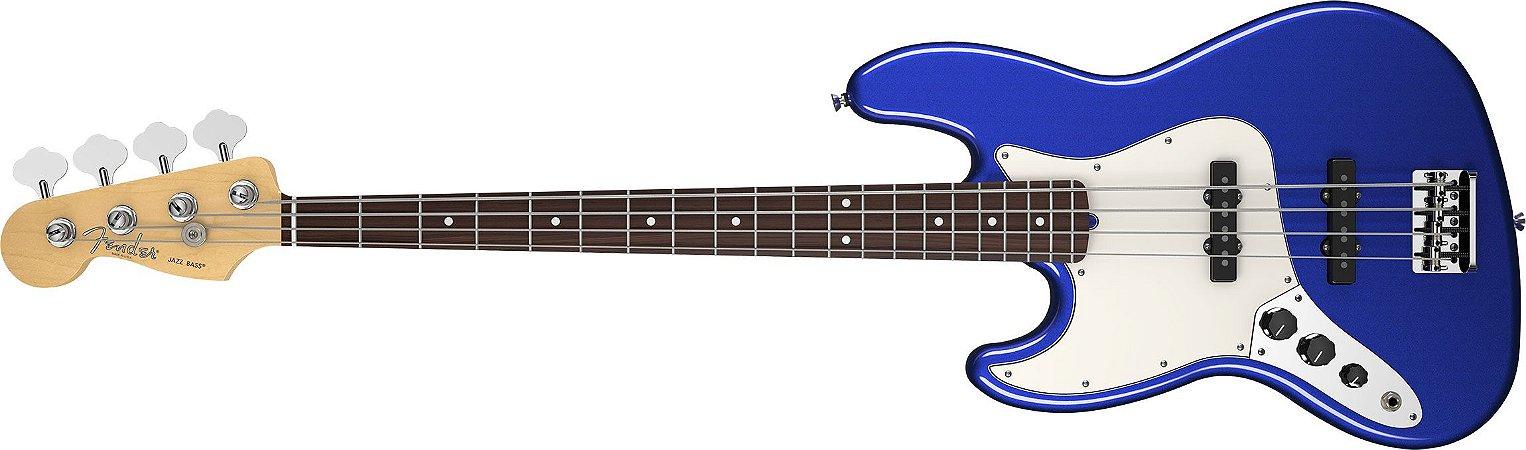 Contrabaixo para Canhotos FENDER 019 3720 - AM Standard Jazz Bass LH RW - 795 - Mystic Blue
